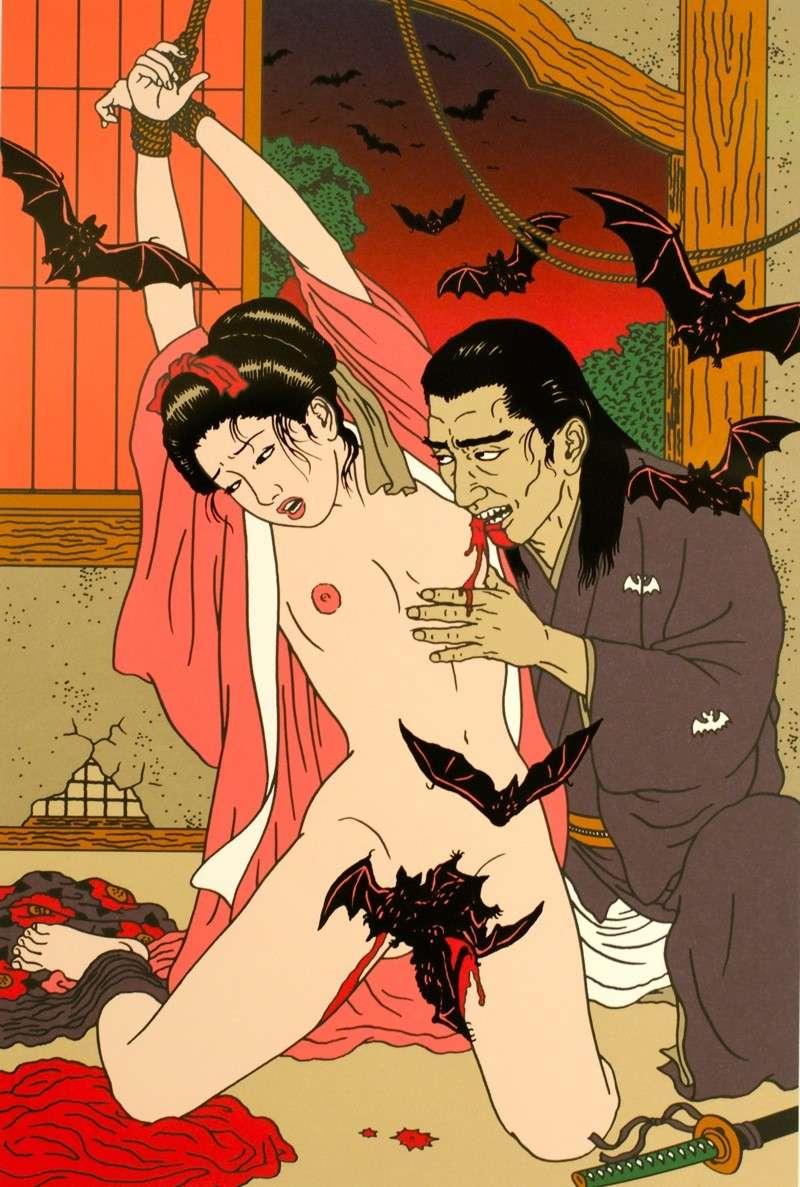 Toshio Saeki, estampes érotiques et cruelles Dsm_5313