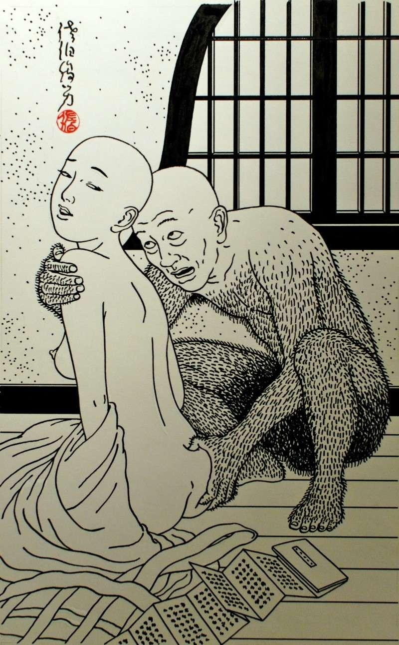 Toshio Saeki, estampes érotiques et cruelles Dsm_5318