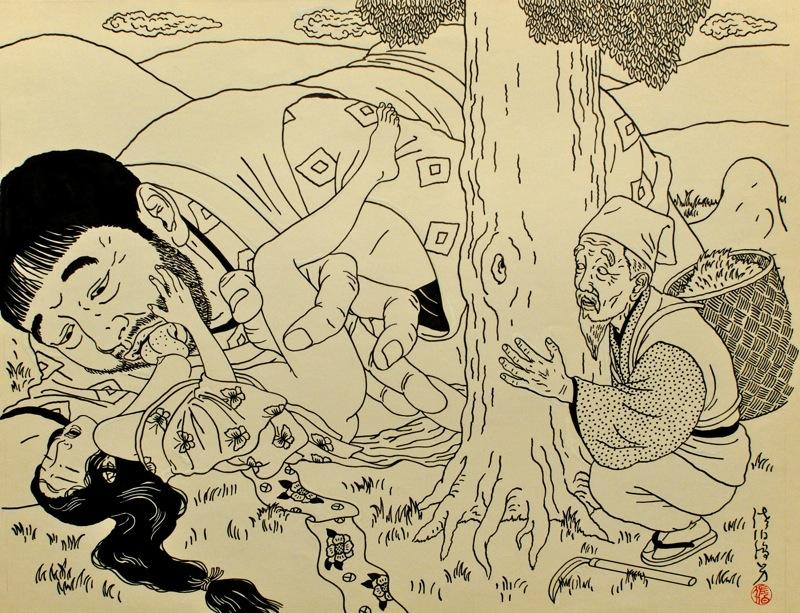 Toshio Saeki, estampes érotiques et cruelles Dsm_5319