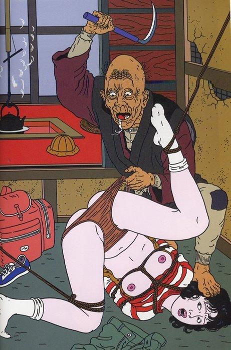 Toshio Saeki, estampes érotiques et cruelles O2opkf10
