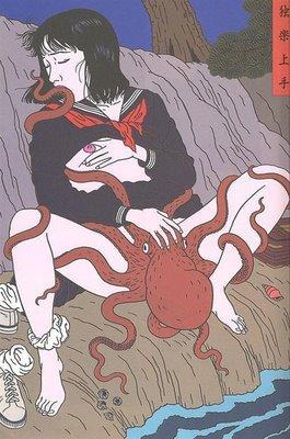 Toshio Saeki, estampes érotiques et cruelles Tako-l10