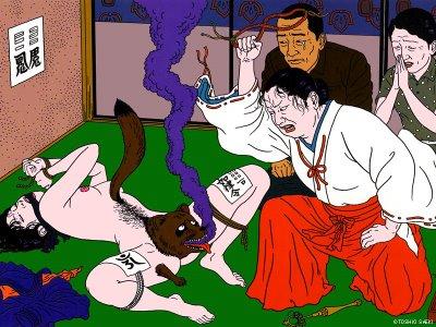 Toshio Saeki, estampes érotiques et cruelles Toshio12