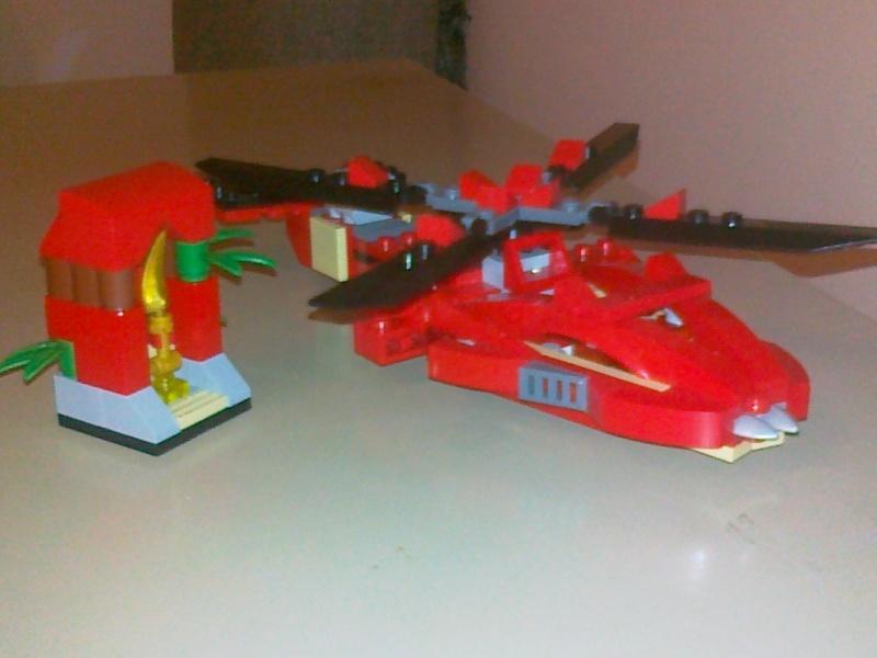 Moja verzija Ninjago seta Rattlecoptera 9443 08062010