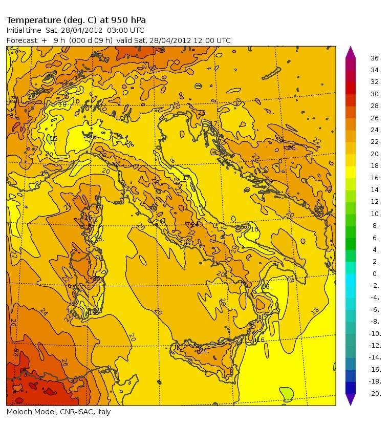 Record di temperatura live 28apr_14