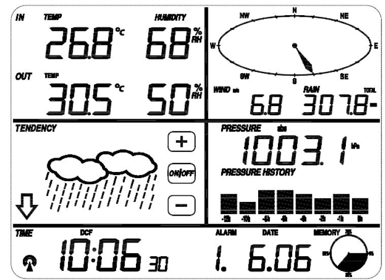 display - Previsioni del tempo su display: soglia pressione e limite pressione pioggia. Displa10