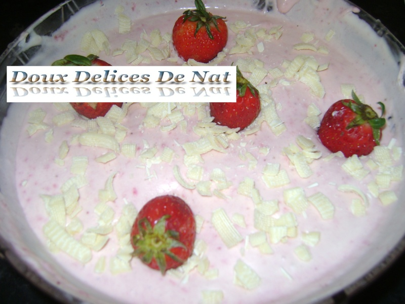 mousse de fraises Mousse13
