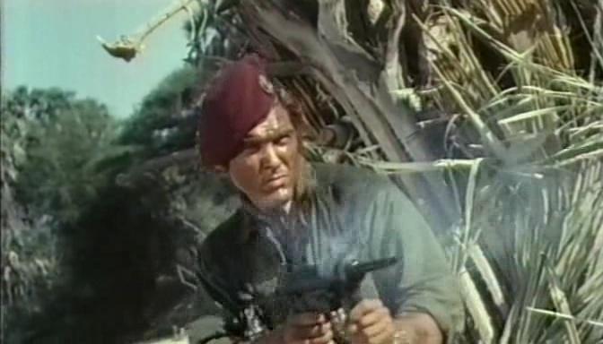 Les 7 Bérets rouges. Sette baschi rossi. 1968. Mario Siciliano. Vlcs1310