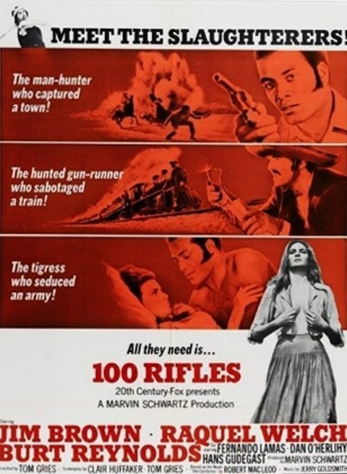 Les cent fusils . 100 Rifles . 1968 . Tom Gries . Zusa1010