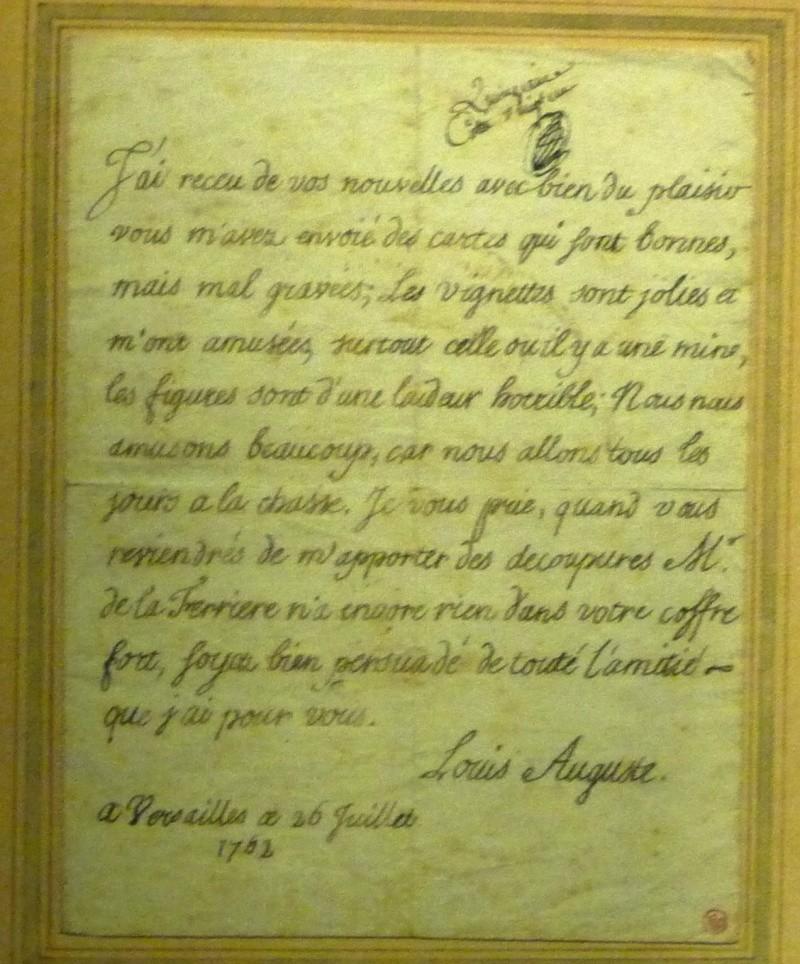 Correspondance et écrits du Roi Louis XVI - Page 5 Lettre22