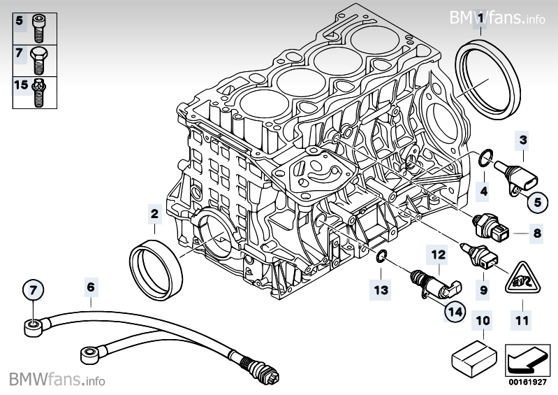Capteu on bmw crankshaft position sensor location