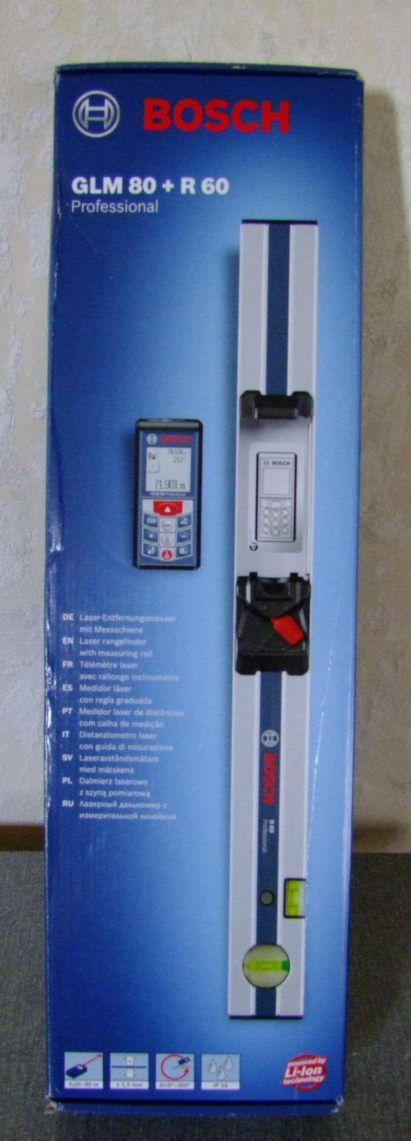 Télémêtre laser BOSCH GLM80 + R60 Dscf5010