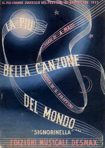 FESTIVAL DI SANREMO 1957: I CANTANTI - LE CANZONI - I TESTI Lapiub10