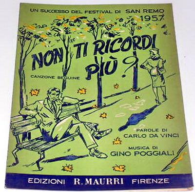 FESTIVAL DI SANREMO 1957: I CANTANTI - LE CANZONI - I TESTI Nontir10
