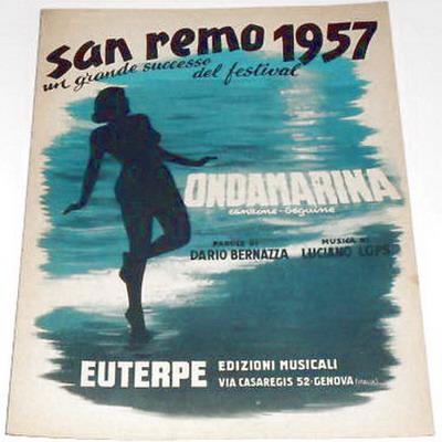 FESTIVAL DI SANREMO 1957: I CANTANTI - LE CANZONI - I TESTI Ondama10