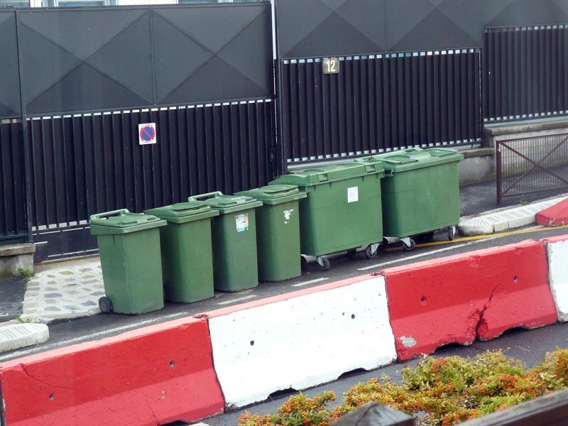 au secours .... des poubelles sur la voie publique P1040410