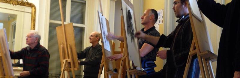 Le cours de dessin et de peinture du mardi P1080110