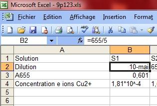 Utiliser un tableur grapheur Esnorm10