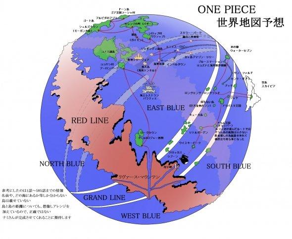 one piece karte Weltkarte von One Piece