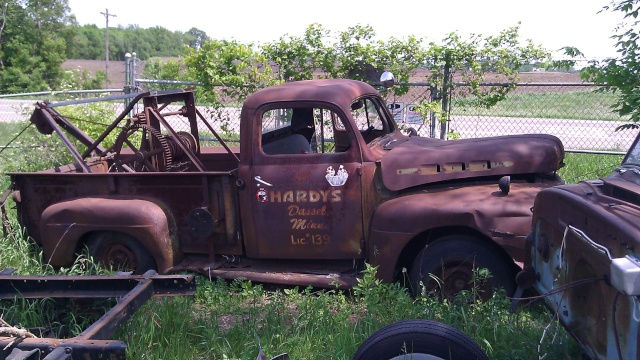 Old Photo Tow Truck French10