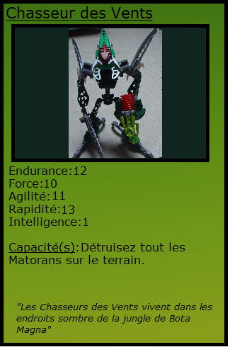 [Blog] Projet 2: BIONICLE Cards & HEROFACTORY Cards - Page 11 Chasse10