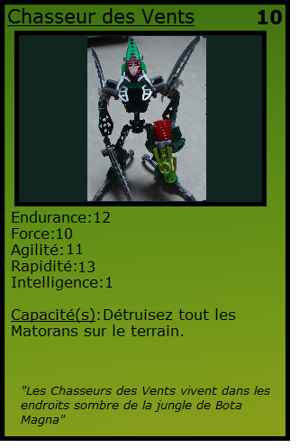 [Blog] Projet 2: BIONICLE Cards & HEROFACTORY Cards - Page 13 Chasse11
