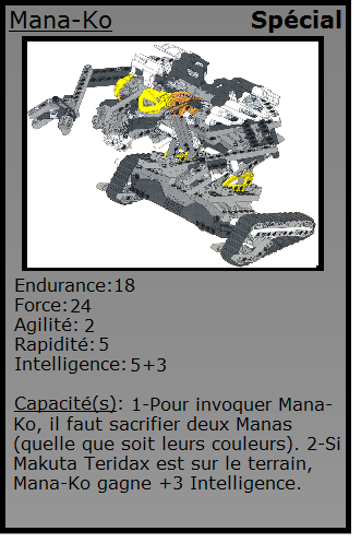 [Blog] Projet 2: BIONICLE Cards & HEROFACTORY Cards - Page 13 Manako10