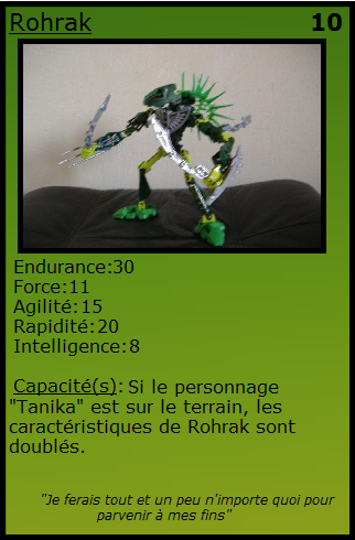 [Blog] Projet 2: BIONICLE Cards & HEROFACTORY Cards - Page 11 Rohrak10