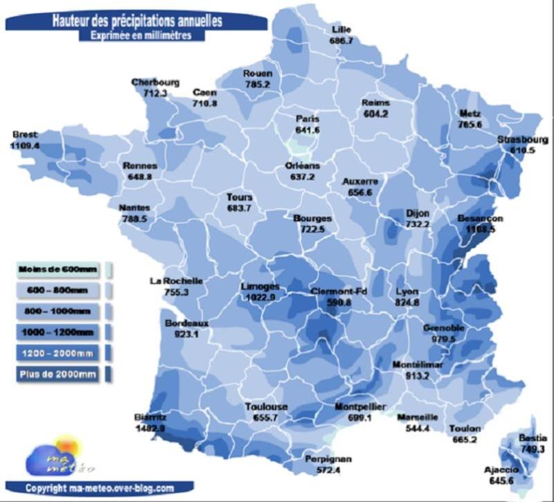 Precipitations annuelles - Page 3 Pluvio10