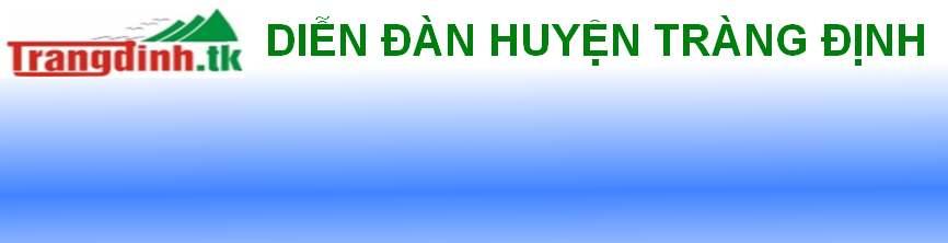 Diễn Đàn Hội Đồng Hương Tràng Định