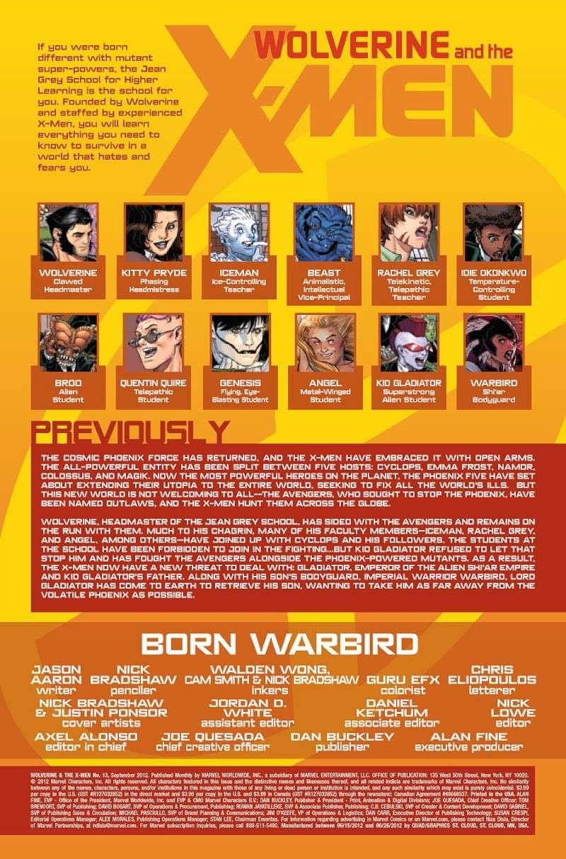 Wolverine & The X-Men: AvX Prv12911