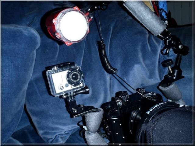Fixation Gopro sur Platine d'appareil photo sous-marin Pa290310