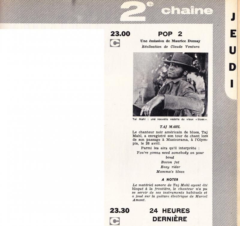 Solidarité et musique: Taj Mahal et Marcel Amont... 24869210