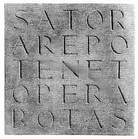 Le Grand Palindrome de Georges Perec Sator110