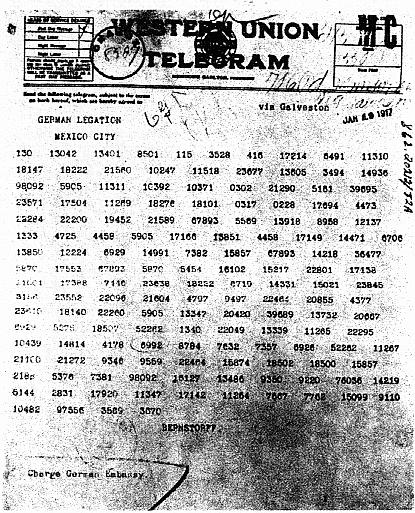 L'entrée en guerre des Etats Unis n'est pas celle que l'on croit : le télégramme de Zimmermann Zimmer10