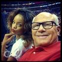 Rihanna a un match de basket. Norma603