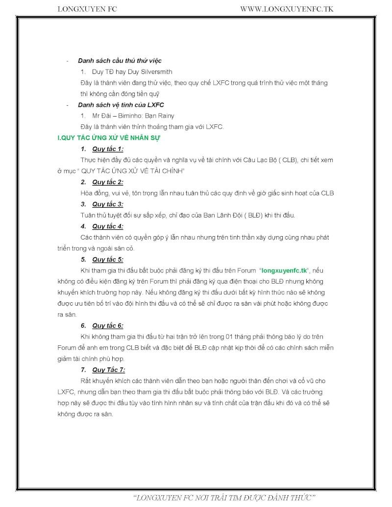 QUY TẮC ỨNG XỬ VỀ NHÂN SỰ VÀ TÀI CHÍNH TRONG LXFC Qtux-l11