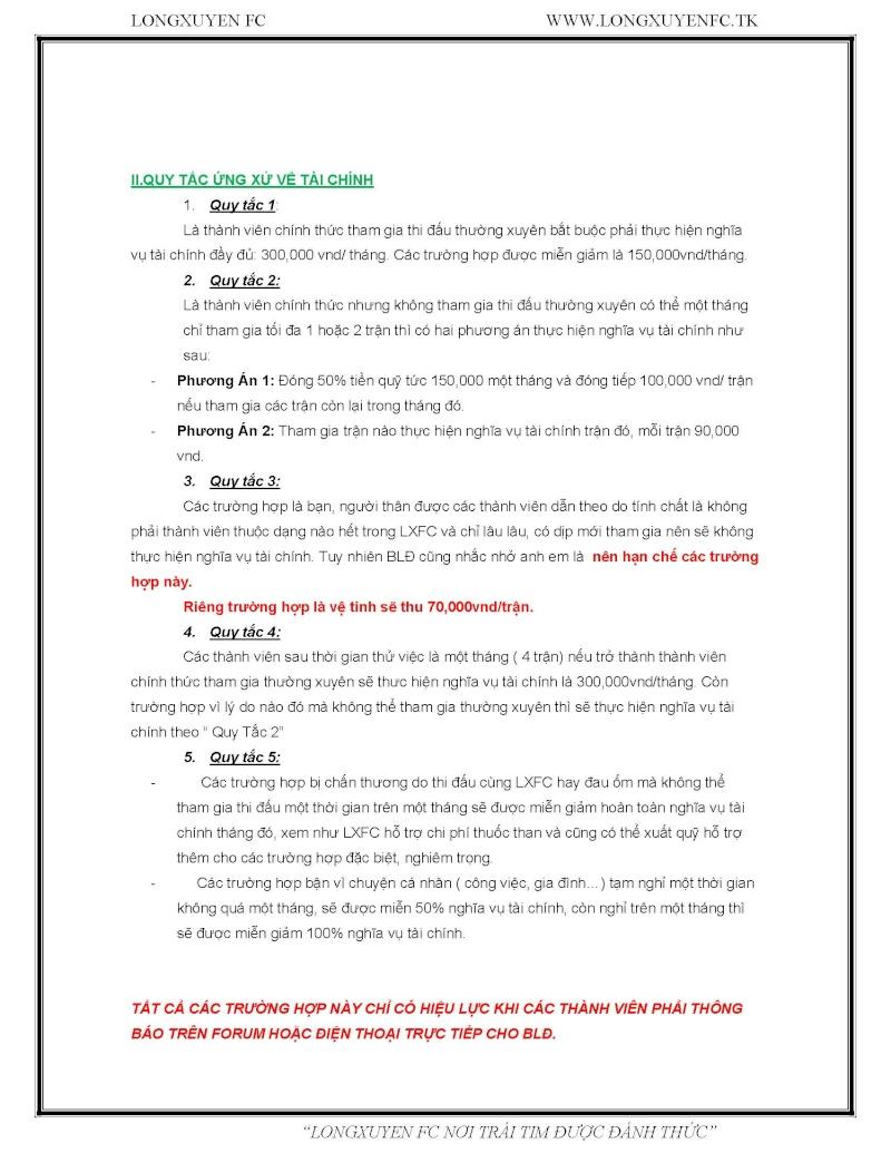 QUY TẮC ỨNG XỬ VỀ NHÂN SỰ VÀ TÀI CHÍNH TRONG LXFC Qtux-l12