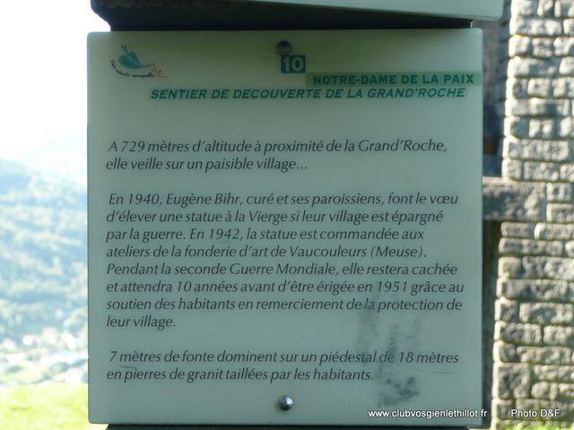 CORNIMONT  Notre Dame de la Paix Plaque10