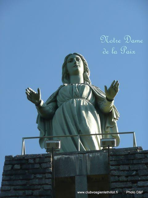 CORNIMONT  Notre Dame de la Paix Statue10