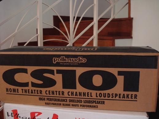 Polk Audio CS101 center speaker NEW Dsc04073