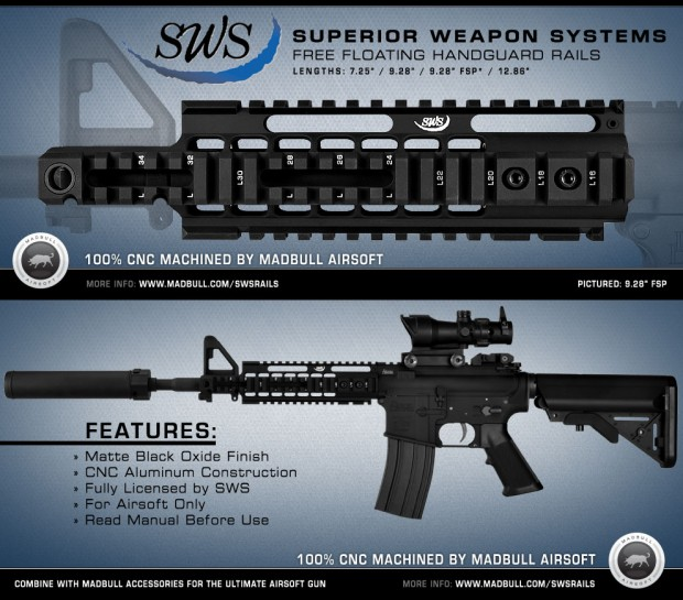 MadBull Airsoft – Superior Weapon Systems Free-Float Rails Madbul10