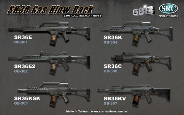 SRC - Gamme de G36 Gaz Blowback Src-g310