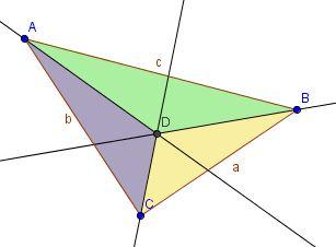 Rayon du cercle inscrit d'un triangle rectangle Triang12