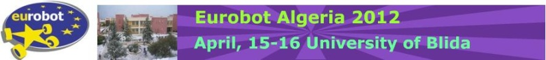 Coupe d'Algérie de Robotique « Eurobot Algeria 2012  Eurobo12