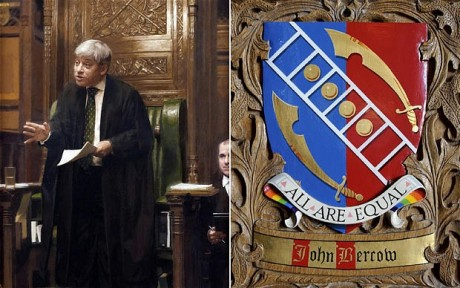 Bercow's coat of arms – a staggering bit of showing-off - Daily Telegraph Bercow10