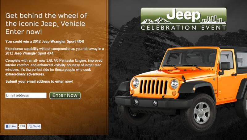 jeep celebration event.  *Delaware, The District of Columbia, Maryland, New Jersey, Pennsylvania, Virginia, and West Virginia only* C16