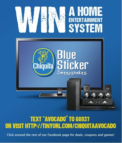 Chiquita Avocados Sweepstakes *usa only* C20