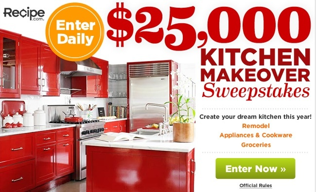 25,000 Kitchen Makeover sweepstakes.  *Usa only* C36