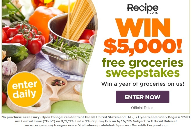 5,000 free grocery sweepstakes. *usa only* C38