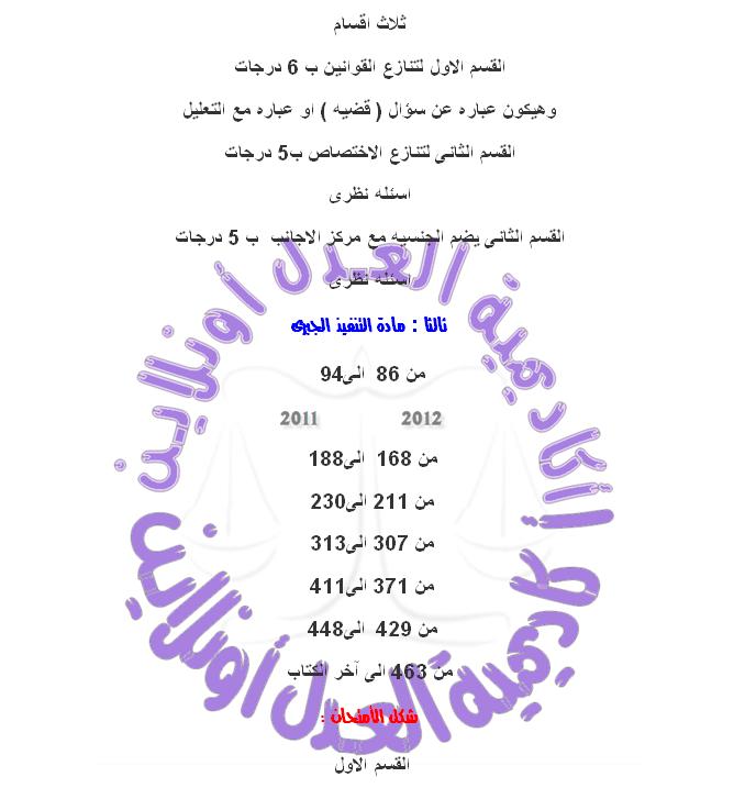 حصرياً ملغي جميع المواد للفرقه الرابعه بألأضافة لشكل الأمتحان الخاص بكل مادة  Uuous_11
